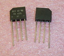 QTY (5)  RS403L DIODES INC 4A 400V BRIDGE RECTIFIER...FREE SHIPPING