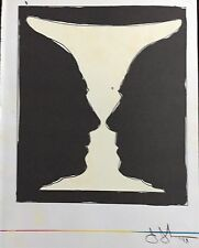 "JASPER JOHNS ""CUP TWO PICASSO"" LITHOGRAPHIE ORIGINALE"