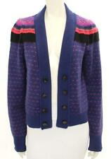 Marc by Marc Jacobs Navy & Coral Wool Pattern Cardigan Size Large