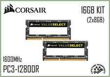 CORSAIR 16GB (2x8GB) PC3-12800s 1.5v DDR3 1600Mhz (204 Pin) Laptop Memory Ram