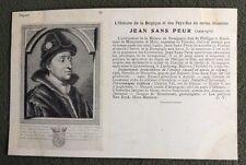 CPA. JEAN SANS PEUR. 56. Histoire de la  Belgique et Pays Bas.