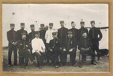 Cpa Carte Photo Militaire officiers du 37e régiment d'infanterie de Nancy m0291