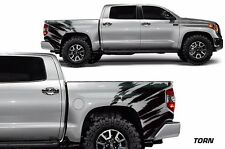 Toyota Tundra 2014-2016 TRD Custom Rear Vinyl Decal Wrap Kit TORN - Matte Black