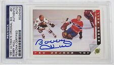 BOBBY HULL SIGNED 1991 ULTIMATE ORIGINAL SIX HOCKEY CARD PSA/DNA AUTHENTIC #91