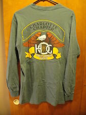 Harley Davidson Owners Group Charlotte NC Chapter Long Sleeve T Shirt MED LtBlue