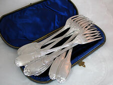 CHRISTOFLE FRENCH LE MEURICE HOTEL PARIS ANTIQUE SILVER DINNER FORKS