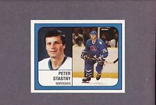 1988-89 Panini NHL Hockey Sticker Peter Stastny #358 Quebec Nordiques
