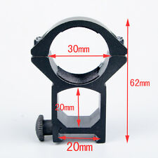 1Pc See Through 30mm Ring 20mm Rail Mount for Rifle Scope Laser Torch Hunting