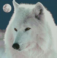 "Arctic Wolf Complete Counted Cross Stitch Kit 10"" x 10"""