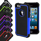 SHOCK PROOF HARD DUAL LAYER DEFENDER SILICON CASE COVER FOR APPLE IPHONE SE 5 5S