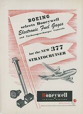 1946 Honeywell Aircraft Controls Ad Boeing 377 Stratocruiser Airplane Vintage