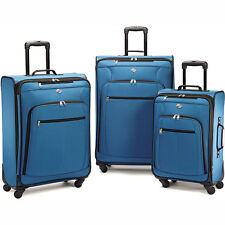 American Tourister Pop Plus 3 Piece Luggage Set (Moroccan Blue) - 64590-2551
