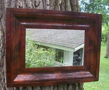 Antique American Empire Mirror Federal Furniture Crotch Flame Mahogany 1825