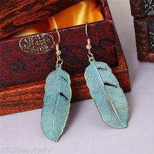 1 Pair New Women Retro Alloy Leaves Pendant Earrings Eardrop Earbob Jewelry