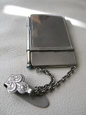 Antique Victorian Chatelaine Mechanical Pencil Belt Clip Note Book Aide Memoire