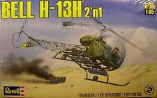 REVELL 1:35 SCALE U.S. ARMY BELL H-13H HELICOPTER 2-n-1 PLASTIC MODEL KIT