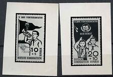 Germania est 1958 SG #E 384-5 PIONEER Org. FOTO prove saggio Set #A 81018