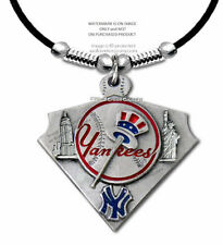 "NEW YORK YANKEES NECKLACE for MALE or FEMALE MLB GIFT 24"" LEATHER FREE SHIP #LA*"