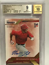 MIKE TROUT 2009  TRISTAR  PROSPECTS PLUS GOLD  5/50 AUTO BGS 9 ONLY ONE ON EBAY