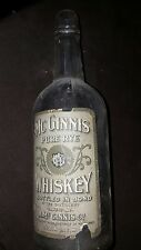 nice early mcginnis pure rye whiskey bottle nice label