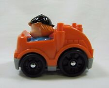 NEW! Fisher Price Little People WHEELIES ORANGE GARBAGE TRUCK w/ DRIVER Rare!