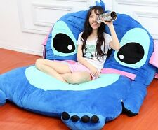 Giant Lilo Stitch Plush Totoro Double Beanbag Cartoon Tatami Bed Sleeping Bag