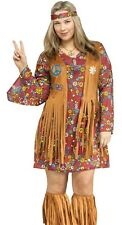 Peace & Love Hippie Costume GoGo Dress Sexy 60s 1960s 70s 60's - Plus Size 16-20