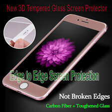 NEW! R.Gold Full Cover Tempered Glass 3D Curved Screen Protector For iPhone 6s