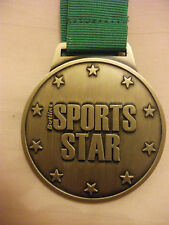 Butlins Sports Medal ( Metal ) With Green Ribbon