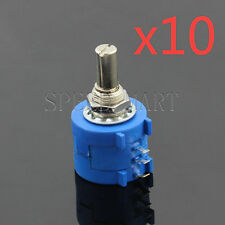 10 X 500 Ohm 3590S-2-501L Rotary Wirewound Precision Potentiometer Pot Multiturn
