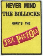 SEX PISTOLS never mind the bollocks EMBROIDERED Iron-On PATCH **Free Shipping**