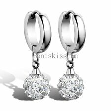 Women's Stainless Steel Womens Drop Earrings w Ball Dangle Mother's Day Gift