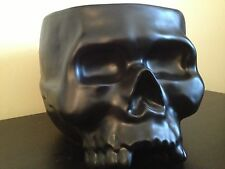 WILLIAM SONOMA BLACK SKULL PUNCH BOWL ICE BUCKET Halloween Prop Haunted Decor