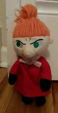 Moomin Characters plush Female Redhead Ginger doll plush wearing red dress Rare