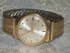 Rare Men's Retro/Vintage  TIMEX Electric Gold Tone Expansion Band  Quartz Watch