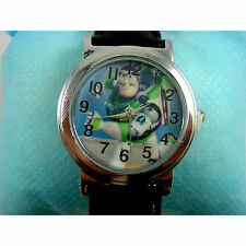 NEW Toy Story Buzz Lightyear Boy Girl Child Fashion Wrist Watch Wristwatch + Pin