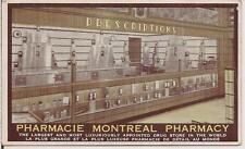 MONTEAL Pharmacy Prescription Medicine Bottle Drug Store CANADA PM 1935 Postcard