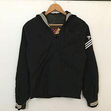 VTG 40s WWII Cracker Jack Uniform Jacket Mens SZ XS Navy Japanese Souvenir Patch