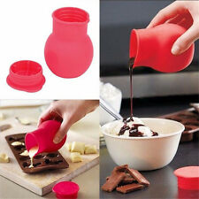 Silicone Chocolate Melting Pot Mould Baking Pouring Tool Kitchen Gadgets