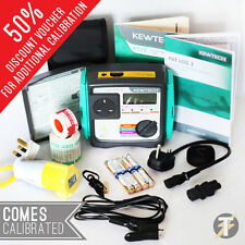 Kewtech KT72 Battery Operated PAT Tester Kit A + BONUS Accessories + CALIBRATION