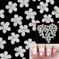 40pcs 3D DIY Resin Flower Bow Tie Glitters Sticker Nail Art Tips Decoration Hot