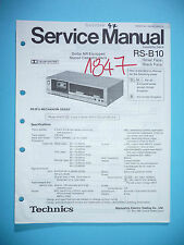 Service-Manual für Technics RS-B10 Tape Deck ,ORIGINAL