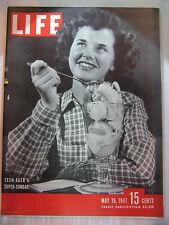 LIFE MAGAZINE MAY 19, 1947 TEEN-AGER'S SUPER SUNDAE