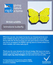 RSPB Pin Badge | Brimstone Butterfly | GNaH backing card [00089]