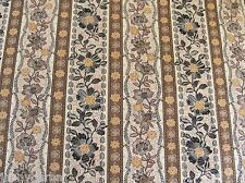 BALI GARDENS FLOWER STRIPES Kathy Hall REPRO on COTTON FABRIC Priced By The Yard