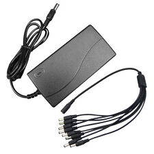 DC 12V 5A Power Supply Adapter +DVR 8 Split Power Cable for CCTV Security Camera