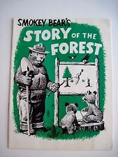 "Adorable Vintage ""Smokey Bear's Story of the Forest"" Activity Booklet *"