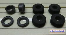 Für Slotcar Racing Modellbahn -- Reifenset für G-Plus/AFX Motor !