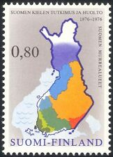 Finland 1976 Maps/Language/Communication/Dialect/People 1v (n24508c)