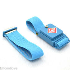 Cordless Wireless Anti Static ESD Safe Discharge Cable Band Wrist Strap Blue